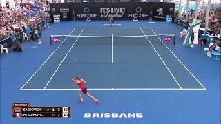 Sasnovich vs Mladenovic Match Highlights (R1) | Brisbane International 2018