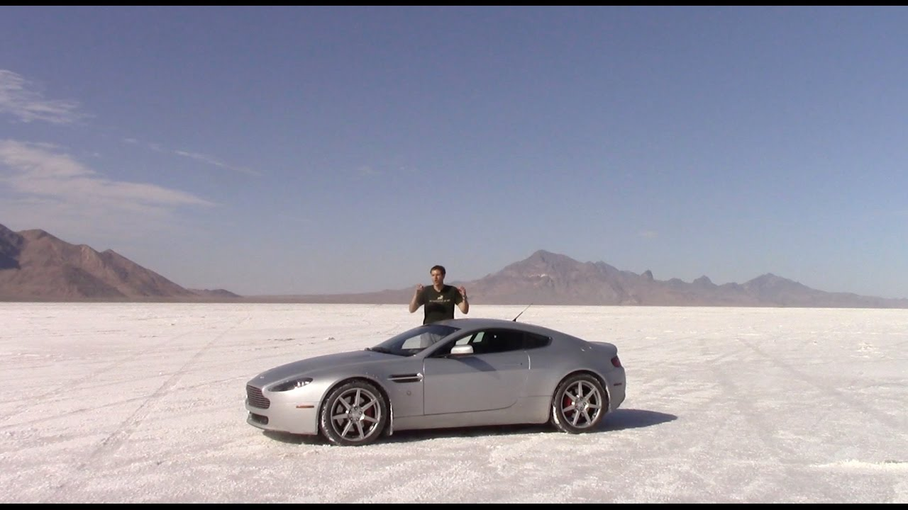 I Drove My Aston Martin As Fast As Possible On the Bonneville Salt Flats