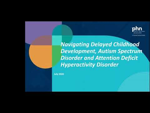 Navigating delayed childhood development, ASD and ADHD (webinar held on 15 August 2020)