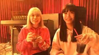 林愛夏と吉井香奈恵がポテトを食べながら楽しくカラオケタイム!の親近...