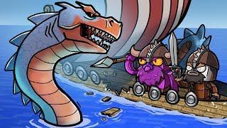 Minecraft Dragons - SEA MONSTER ATTACKS VIKING SHIP!