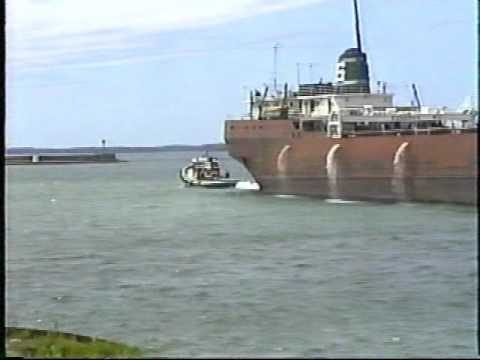 Great Lakes freighters and tugs