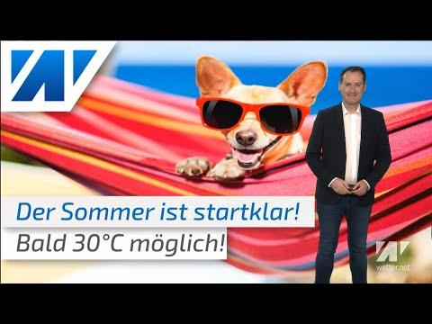 Erste Hitze des Jahres im Anmarsch: Anfang Juni rund 30°C heiß! (Mod.: Dominik Jung)