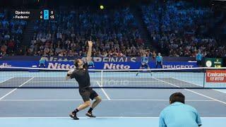 Federer vs Djokovic [COURT LEVEL VIEW] - Full Match - London 2019
