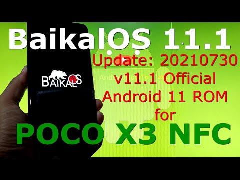 BaikalOS 11.1 OFFICIAL for Poco X3 NFC (Surya) Update: 20210730