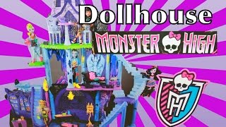 Giant Barbie Monster High Dollhouse Spiderman Ever After High Evil Queen Ariel Ursula Toy Review