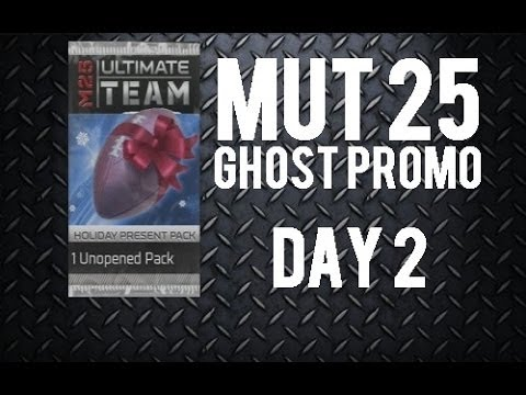 """""""Madden 25 Ultimate Team""""  """"Day 2 Ghost Promo"""" """"Holiday Present Pack Opening"""" George Blanda Kicker"""