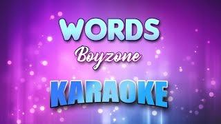 Boyzone Words Karaoke version with Lyrics
