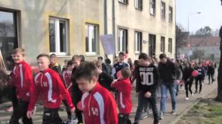 Marsz przeciwko przemocy w Gimnazjum nr 5 w Elblągu
