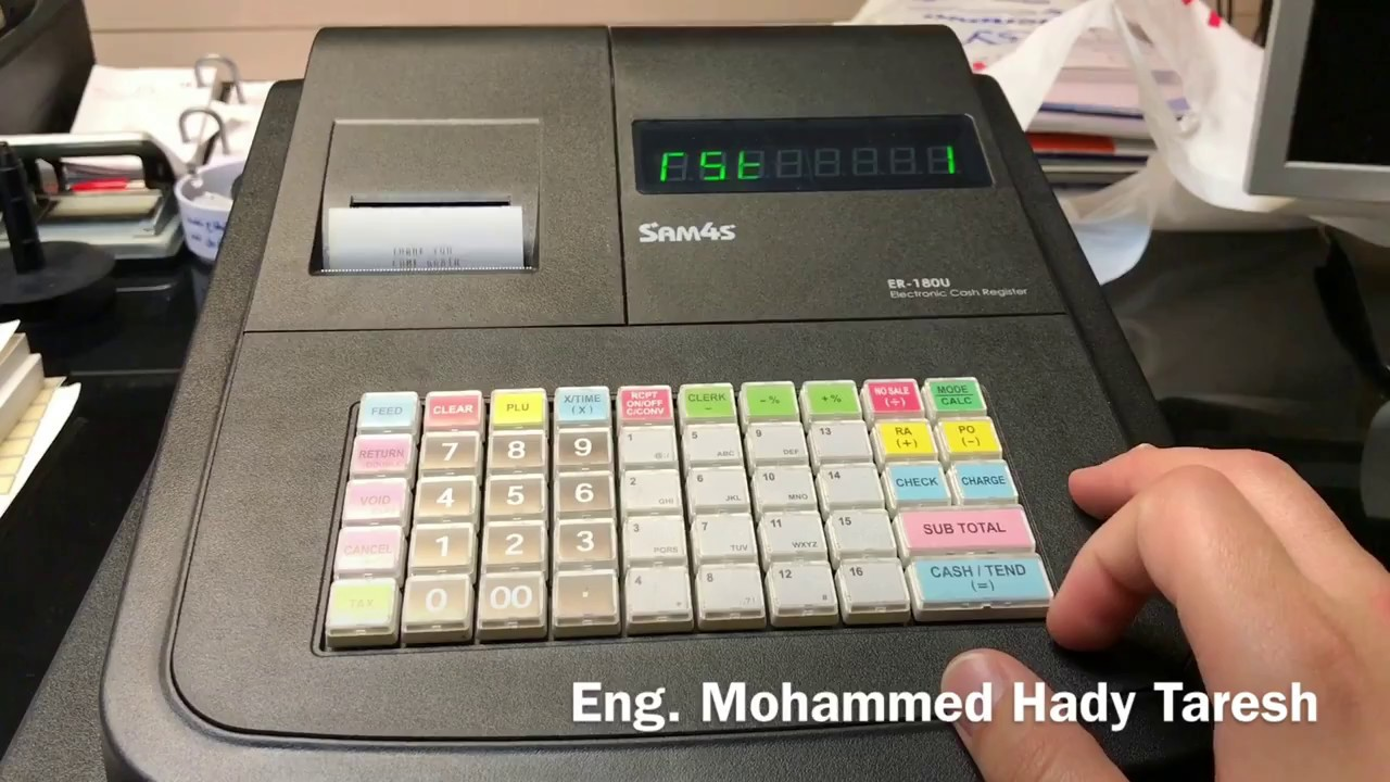 er 180u cash register manual