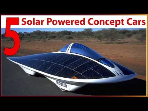 5 Solar powered concept cars (new cars 2017 usa)
