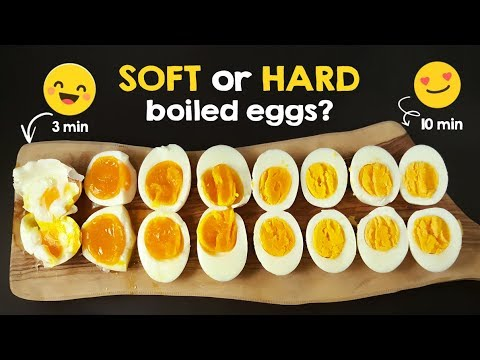 Soft or hard boiled eggs - different cooking times - YouTube