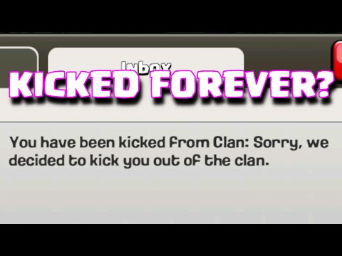 Clash Of Clans How To Get Kicked / Banned From The Clan - THE GANHAMMER