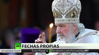 El patriarca ruso Kiril oficia la misa de la Navidad ortodoxa