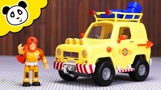 FEUERWEHRMANN SAM - Toms 4x4 Geländewagen - Spielzeug auspacken & spielen - Pandido TV