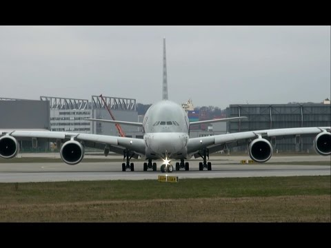 NEW | First QATAR A380 - AMAZING Rejected Take off ( RTO )