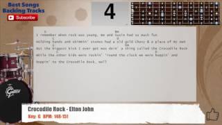 Crocodile Rock - Elton John Drums Backing Track with chords and lyrics