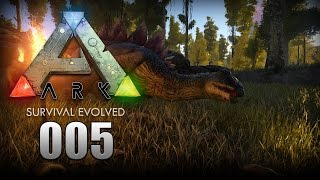 ARK: Survival Evolved [005] [Stegosaurus tamen] [Let's Play Gameplay Deutsch German] thumbnail