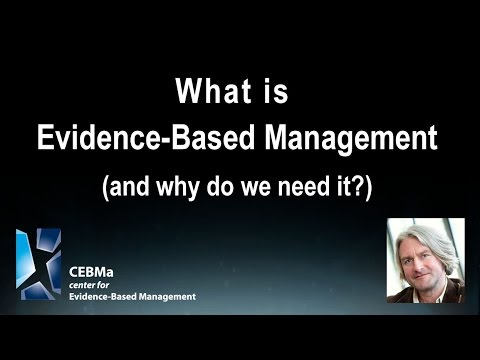 What is evidence-based management and why do we need it?