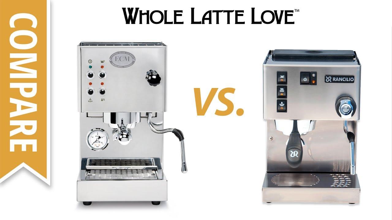 Compare Rancilio Silvia M Vs Ecm Casa V Espresso Machines