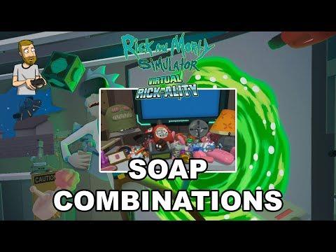 ALL SOAP COMBINATIONS! | Rick and Morty Simulator: Virtual Rick-Ality