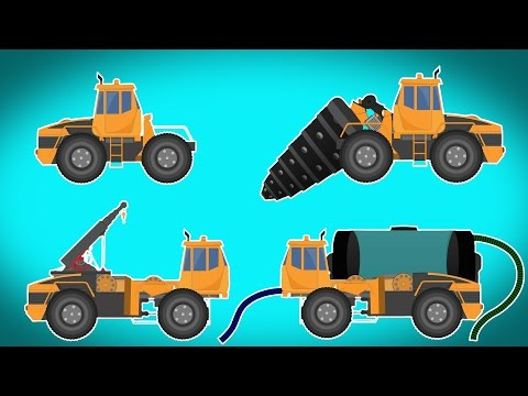 Transformer | drill machine | water tank | crane | Videos For Children