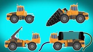 Transformer | drill machine | water tank | crane | Videos For Children