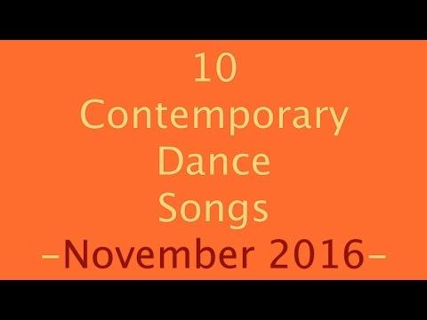 Contemporary Dance Songs November 2016