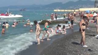 Пляжи Сочи - Адлера.(, 2016-06-05T14:36:11.000Z)