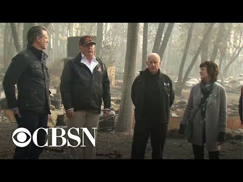 Trump says raking forests could help prevent wildfires
