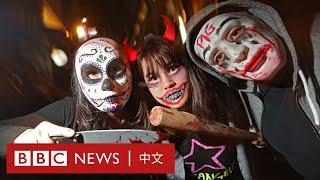 香港示威直播:萬聖節反對「禁蒙面法」遊行