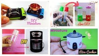 4 DIY Đồ dùng nhà bếp búp bê Đồ chơi trẻ em/How to Make Miniature Kitchen & Home Appliances/Ami DIY