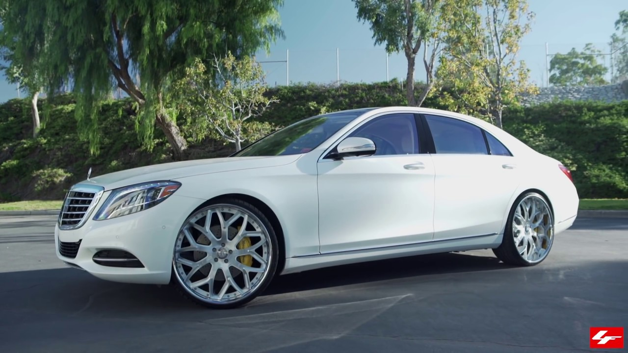White mercedes benz s550 24 lf 750 lexani wheels youtube for 24 inch mercedes benz rims