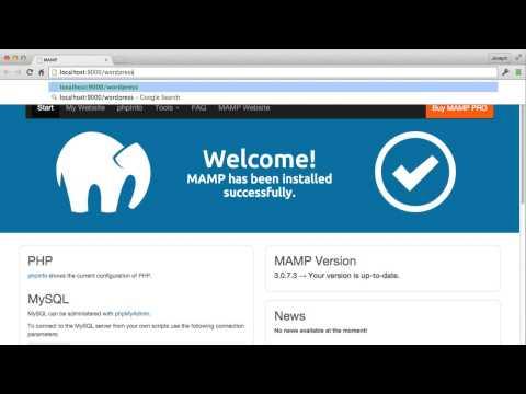 Install WordPress locally using MAMP - YouTube