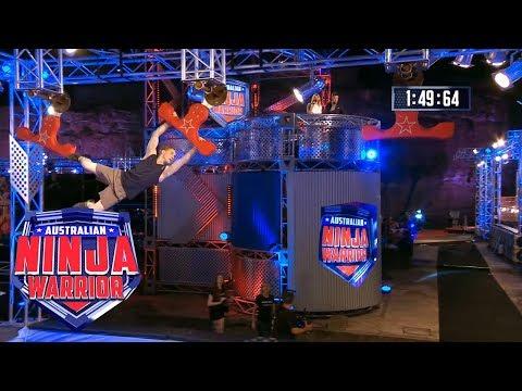 Ninja run: Rob Patterson (Grand Final - Stage 2)   Australian Ninja Warrior 2018