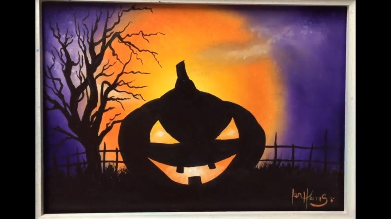 #120. How to paint a Halloween pumpkin for beginners ...