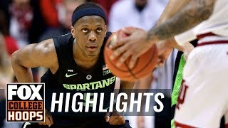 Cassius Winston gets 5th double double of the season vs. Indiana | FOX COLLEGE HOOPS HIGHLIGHTS