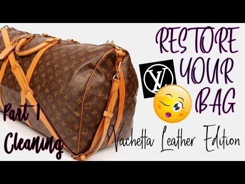 Louis Vuitton Vachetta Cleaning | Clean my LV collection with me | RESTORE YOUR BAG |