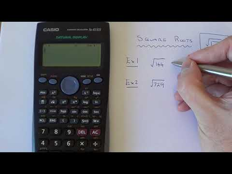 How To Square Root A Number On A Casio Scientific Calculator