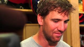 New York Giants QB Eli Manning reacts to the Ray Rice video