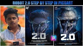 PicsArt Robot 2.0 Movie Poster Editing    Robot 2.0 Editing    Robot Akshay Kumar Editing