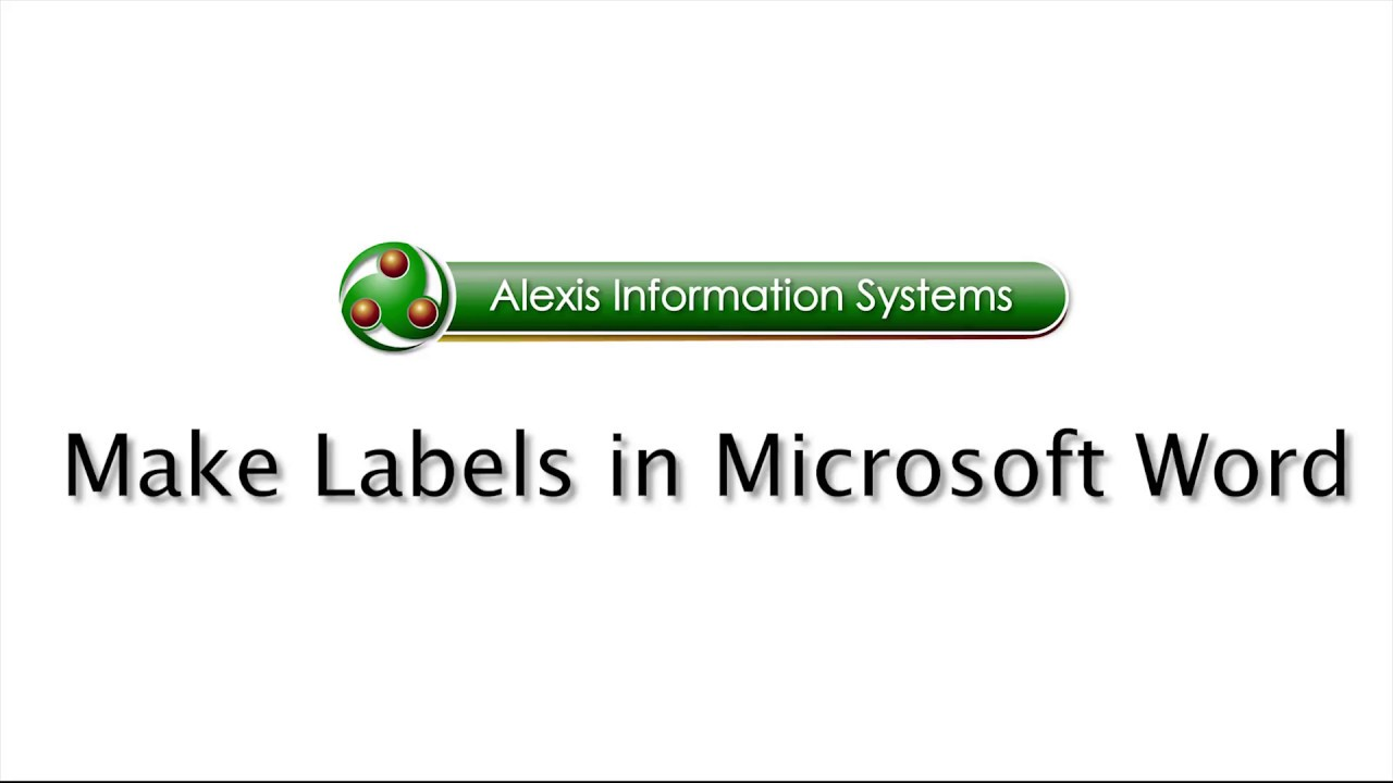 Microsoft Office Word: How to Make Labels - Professional Training