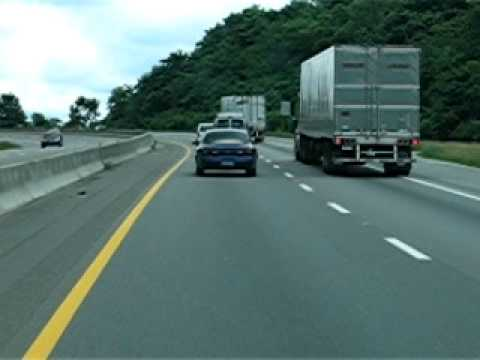 Driving south on Interstate 75 in Jellico, Tennessee