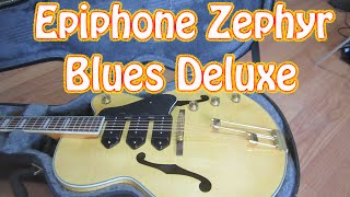 Epiphone Zephyr Blues Deluxe Guitar For Sale on eBay - Epiphone Hollow Body Electric Guitar