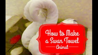 How to Make a Swan Towel Animal on AmaWaterways