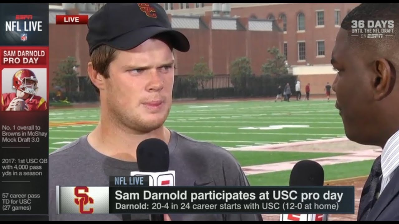 Sam Darnold On His Usc Pro Day Nfl Live Mar 21 2018