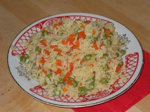 Рис с овощами на гарнир. Рецепт
