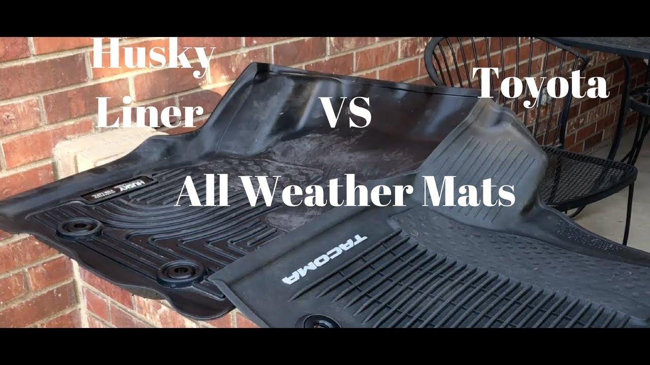 Husky Liner Vs Oem Toyota All Weather Floor Liners Tacoma 3rd Gen
