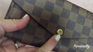 a9286262b42e Overview + Wear   Tear  Louis Vuitton Sarah Wallet ...