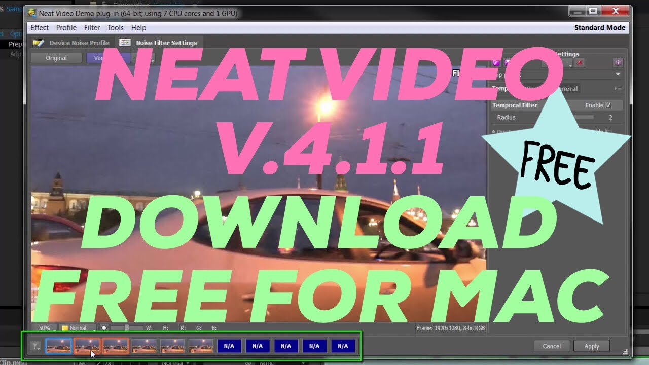 DOWNLOAD NEAT VIDEO PRO plugins 4 1 1 for OFX MAC cracked